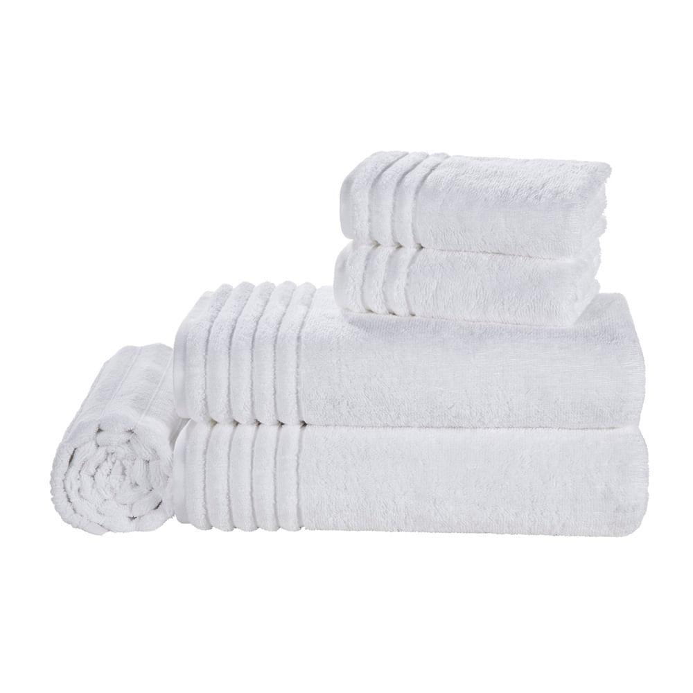 Jogo-de-Banho-5-pecas-Trussardi-100--Algodao-Imperiale-Branco-Branco