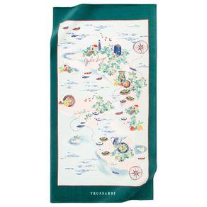 Toalha-de-Praia-Trussardi-100--Algodao-Delfini-Branco