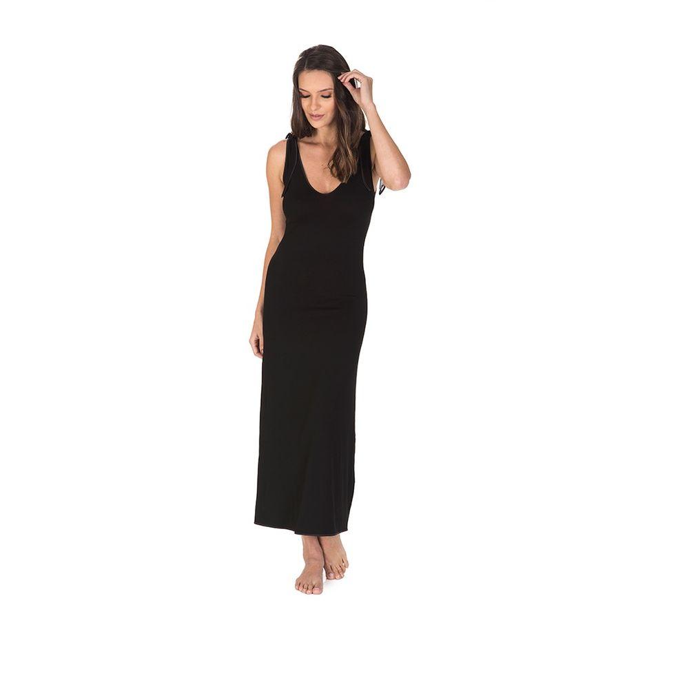 Pijama-Feminino-P-Trussardi-Camisola-Longa-Geovana-Nero