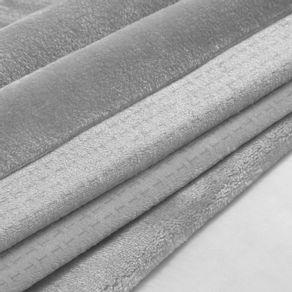Cobertor-Casal-Trussardi-100--Microfibra-Aveludado-Piemontesi-Platino-Bege