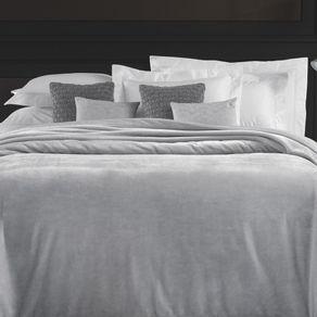 Cobertor-King-Trussardi-100--Microfibra-Aveludado-Piemontesi-Platino-Bege