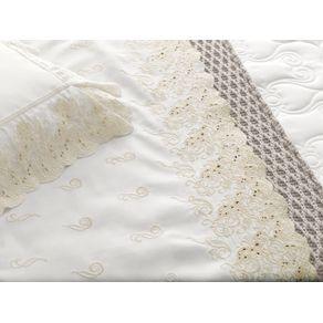 Colcha-Queen-Trussardi-2-Porta-Travesseiros-300-Fios-Cetim-Sorelle-Branco--Nocciola