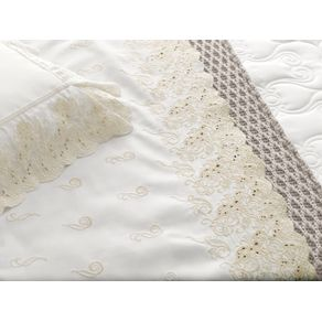 Colcha-Casal-Trussardi-2-Porta-Travesseiros-300-Fios-Cetim-Sorelle-Branco--Nocciola