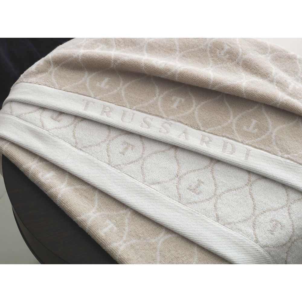 Toalha-Banhao-Trussardi-Jacquard-Fio-Tinto-Speciale-Gelo-Branco