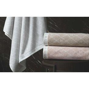 Toalha-de-Rosto-Trussardi-Jacquard-Fio-Tinto-Speciale-Nocciola-Branco