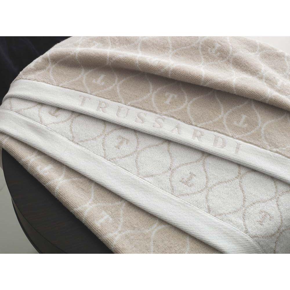 Toalha-de-Rosto-Trussardi-Jacquard-Fio-Tinto-Speciale-Soft-Rose-Branco