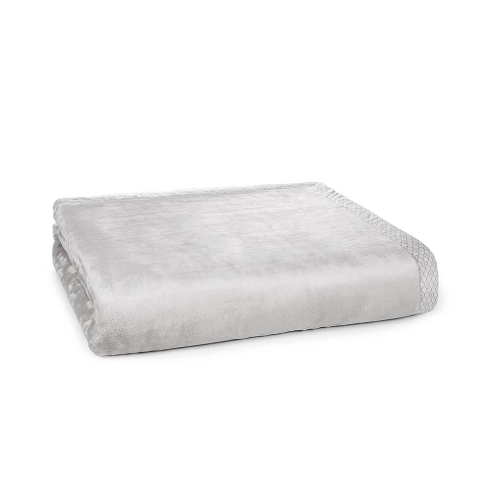 Cobertor-King-Trussardi-100--Microfibra-Aveludado-Piemontesi-Platino