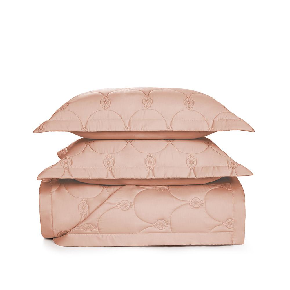 Colcha-King-Trussardi-2-Porta-Travesseiros-300-Fios-Cetim-Giovanna-Rosa-Perla