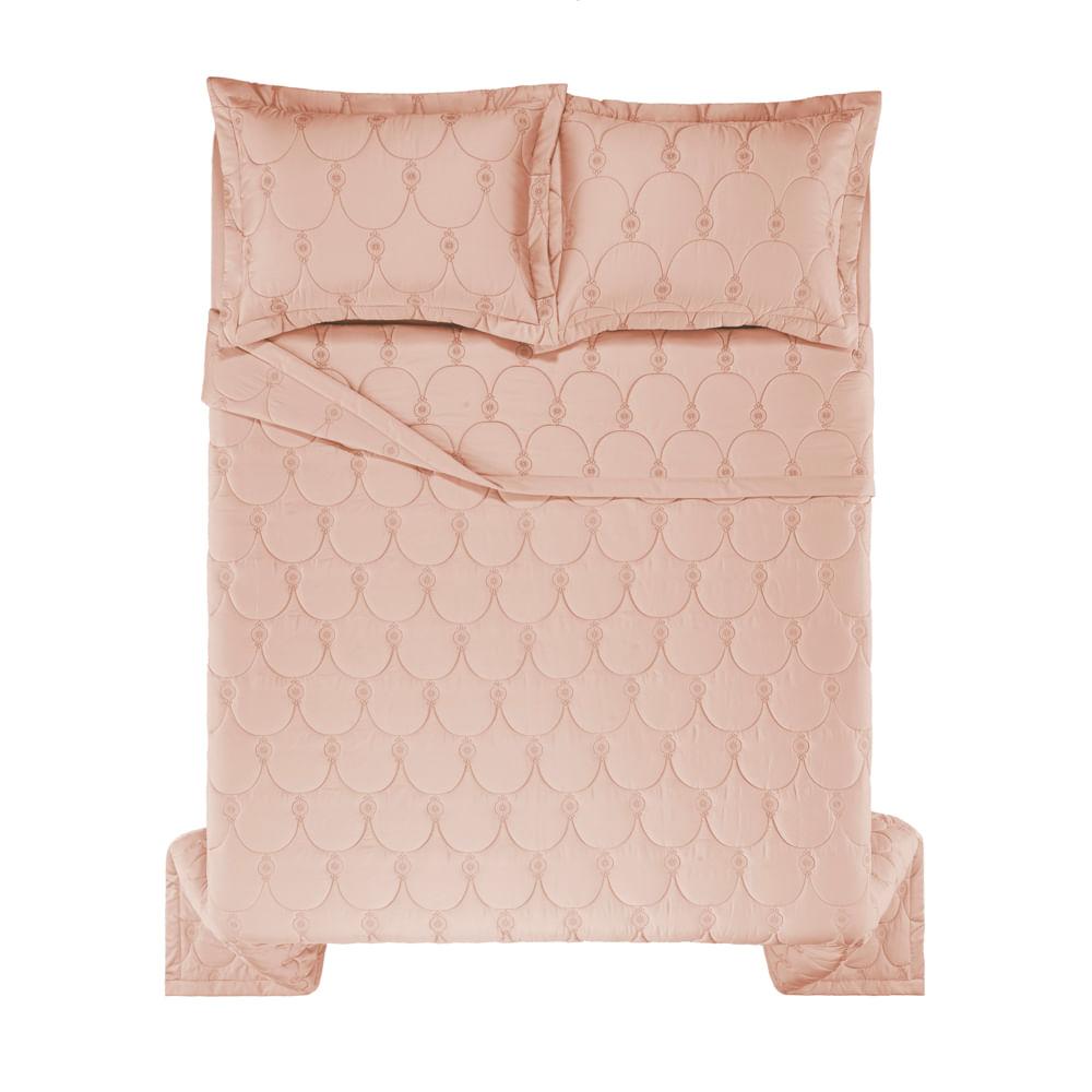 Colcha-Queen-Trussardi-2-Porta-Travesseiros-300-Fios-Cetim-Giovanna-Rosa-Perla