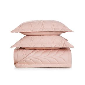 Colcha-King-Trussardi-2-Porta-Travesseiros-300-Fios-Cetim-Grasso-Rosa-Perla