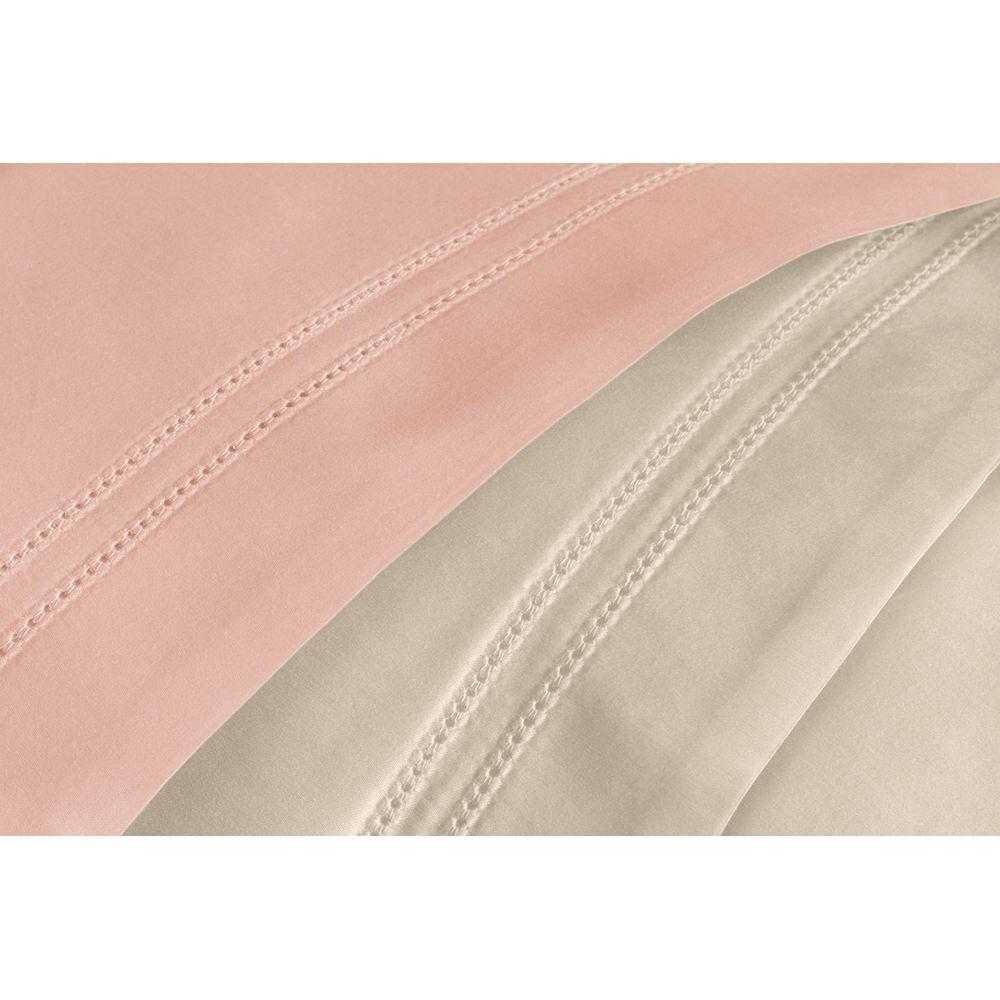Jogo-2-Fronhas-Trussardi-300-fios-Cetim-100--Algodao-Egipcio-Galieno-Rosa-Perla