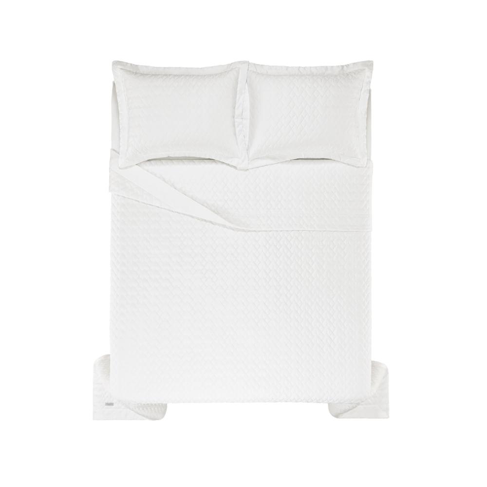 Colcha-Super-King-Trussardi-2-Porta-Travesseiros-300-Fios-Cetim-Spiazzo-Branco