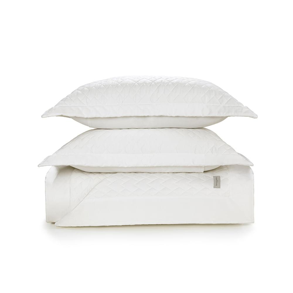 Colcha-Queen-Trussardi-2-Porta-Travesseiros-300-Fios-Cetim-Spiazzo-Branco