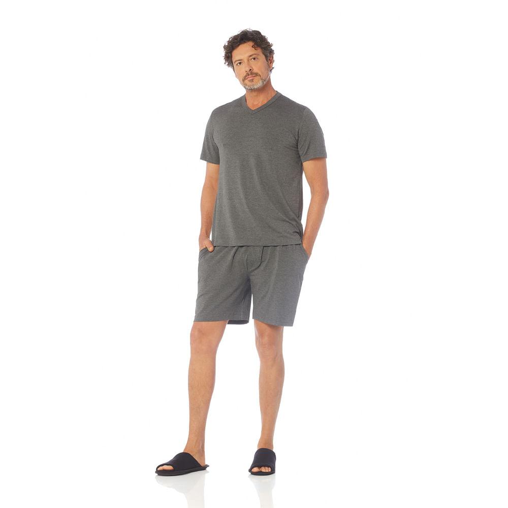 Pijama-Masculino-de-Manga-Curta-com-Bermuda-G-Trussardi-Pietro-Mescolato