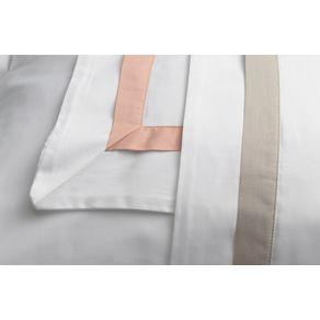 Fronha-Trussardi-300-fios-Cetim-100--Algodao-Egipcio-Vercelli-Branco-e-Rosa-Perla