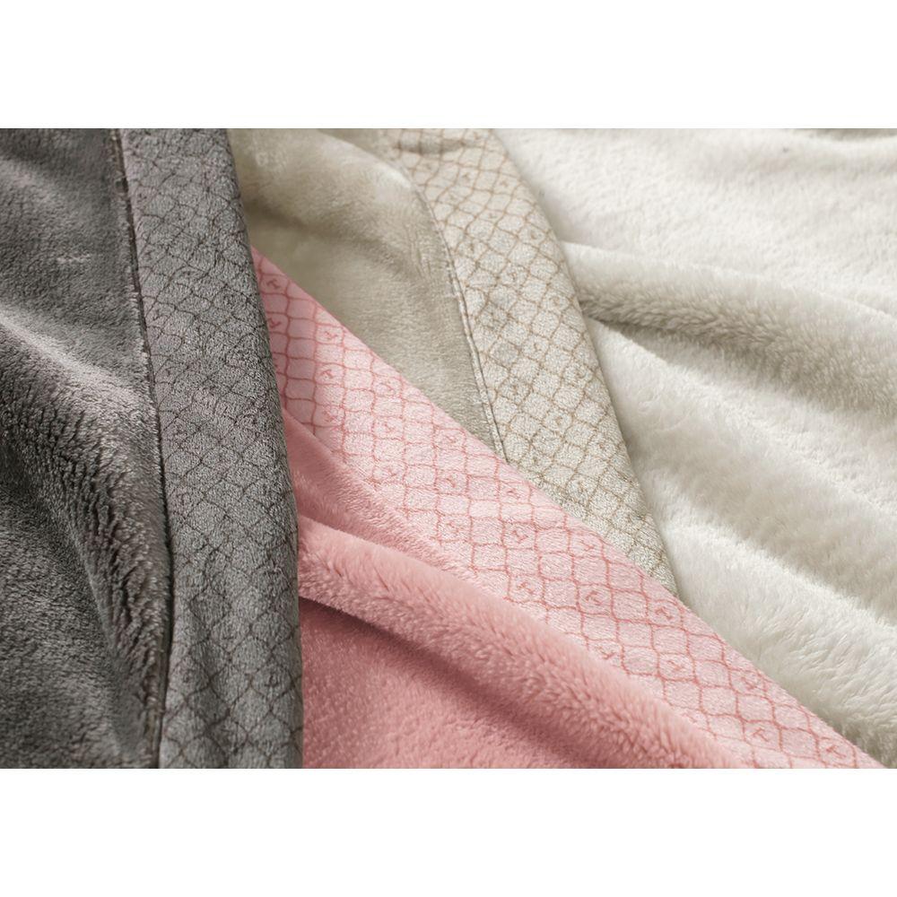 Cobertor-King-Trussardi-100--Microfibra-Aveludado-Piemontesi-Rosa-Perla