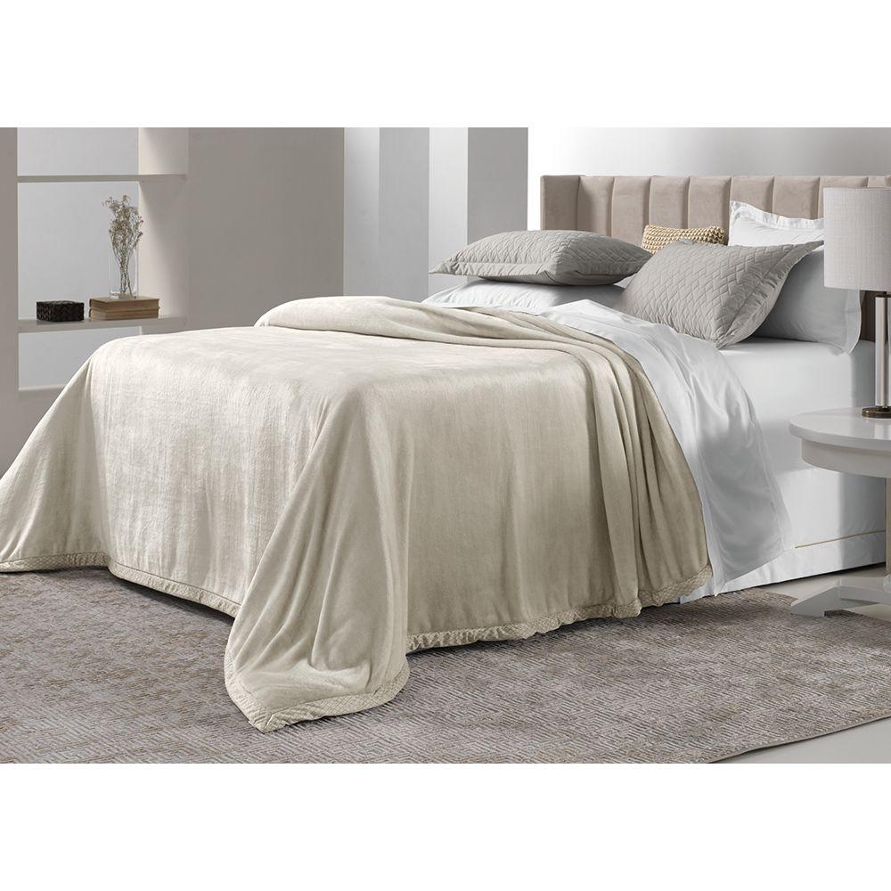 Cobertor-Casal-Trussardi-100--Microfibra-Aveludado-Piemontesi-Rosa-Perla