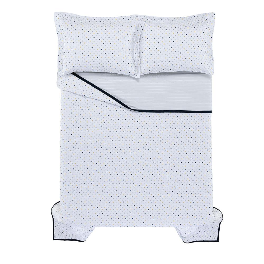 Colcha-Casal-Infantil-2-Porta-Travesseiros-Trussardi-200-Fios-Percal-100--Algodao-Stellato