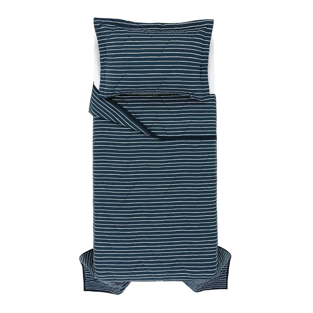 Colcha-Solteiro-Infantil-1-Porta-Travesseiro-Trussardi-200-Fios-Percal-100--Algodao-Orizzonte