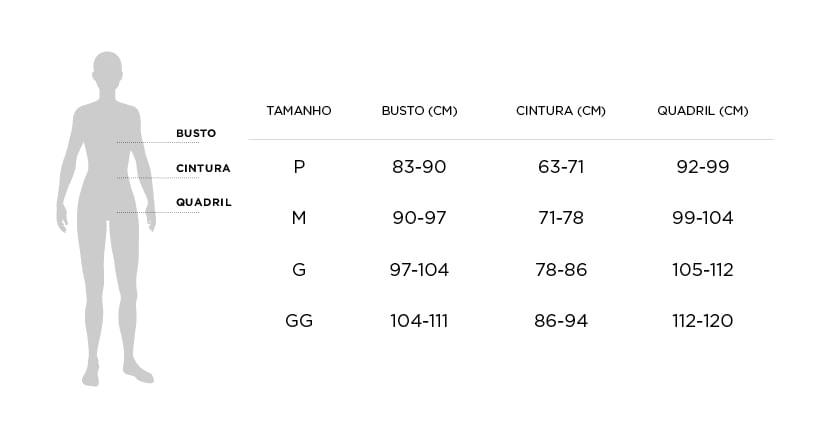 Tabela de Medidas Homewear Trussardi